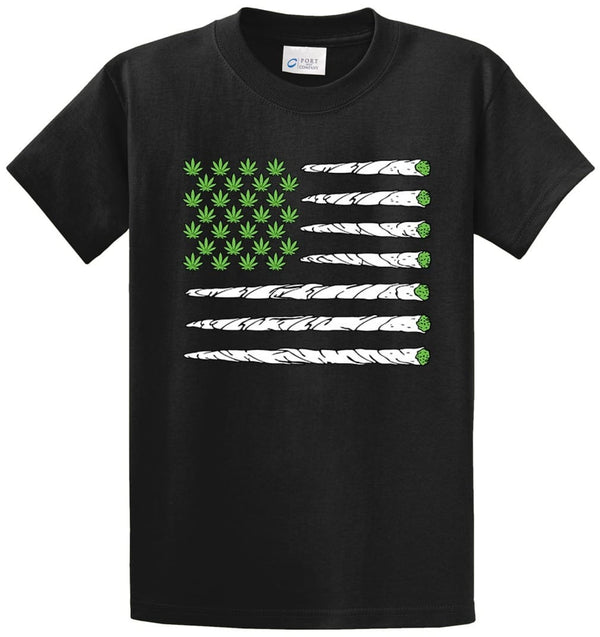 Marijuana Flag Printed Tee Shirt