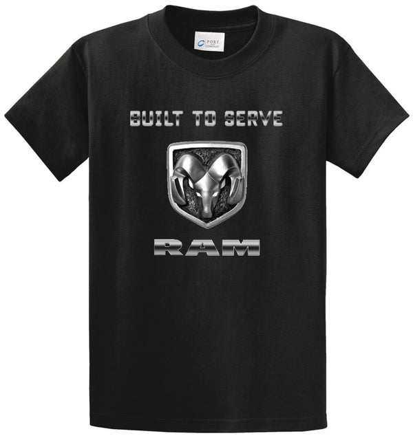 Built To Serve Ram Printed Tee Shirt