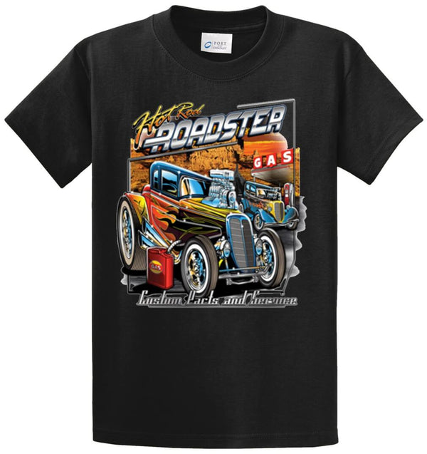 Hot Rod Roadster Printed Tee Shirt