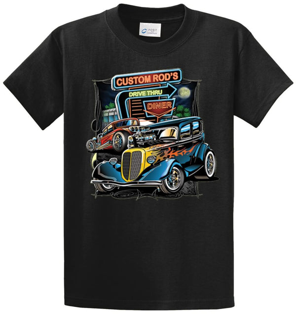 Custom Rod'S Drive Thru Printed Tee Shirt