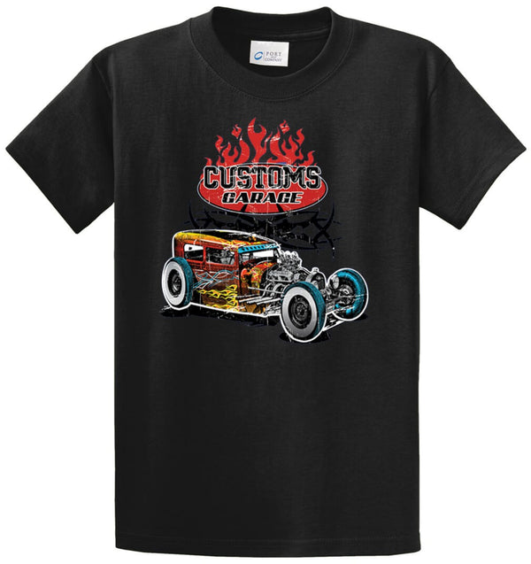Customs Garage Printed Tee Shirt