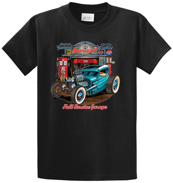 Full Service Blue Rod Printed Tee Shirt