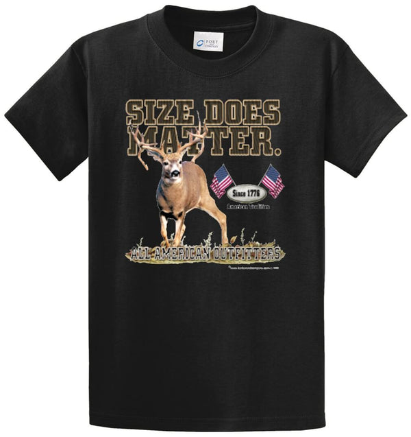 All American Outfitters Size Does Matter Printed Tee Shirt