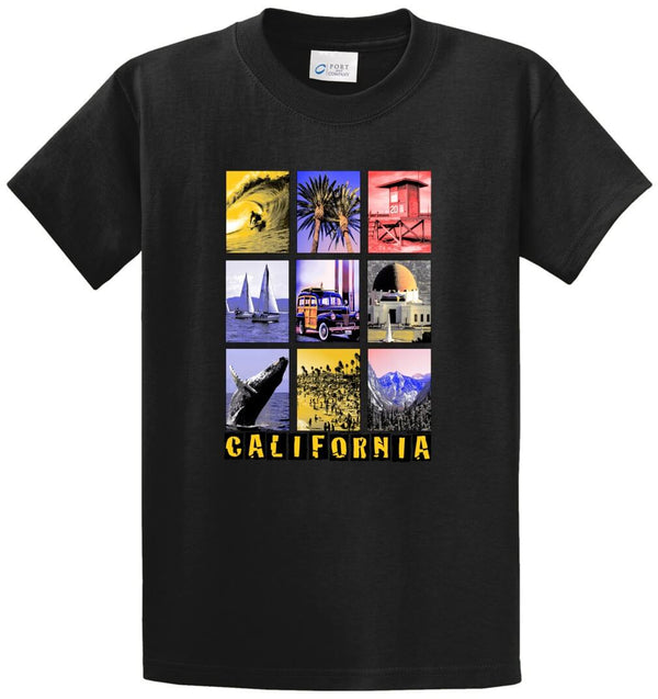 9 California Picture Scenes Printed Tee Shirt