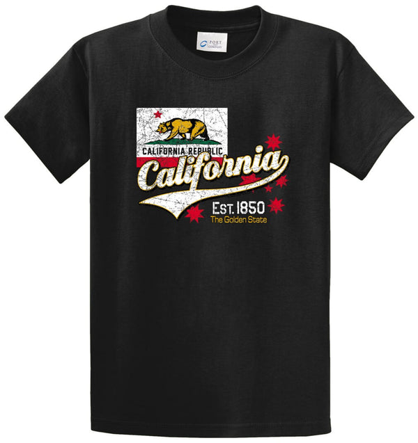 Bear California Republic Printed Tee Shirt