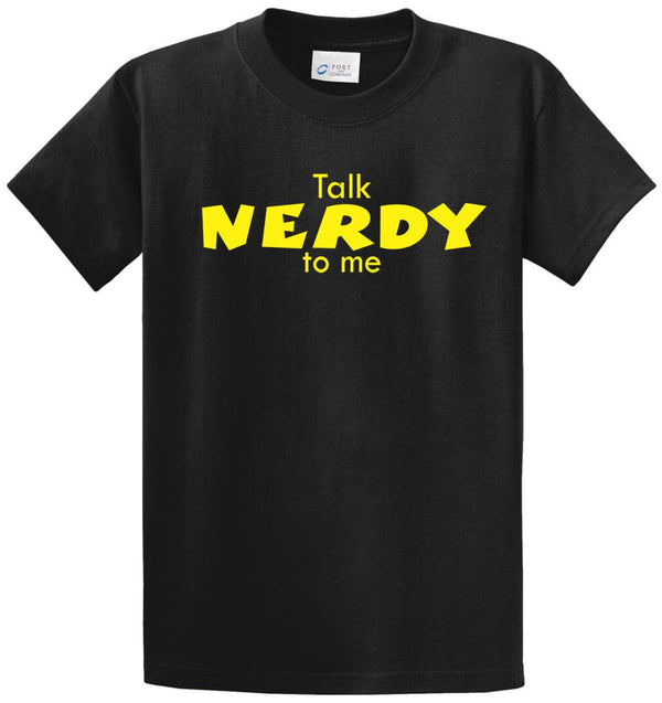 Talk Nerdy To Me Printed Tee Shirt