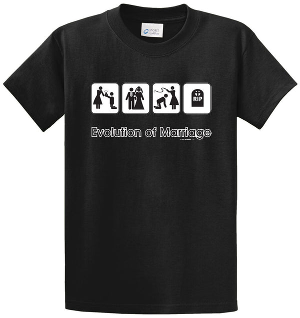 Evolution Of Marriage Printed Tee Shirt