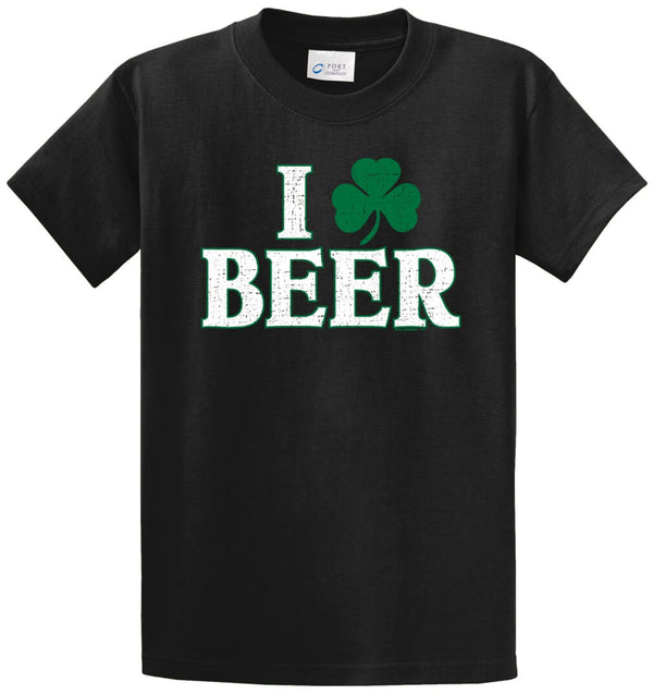I Clover Beer Printed Tee Shirt