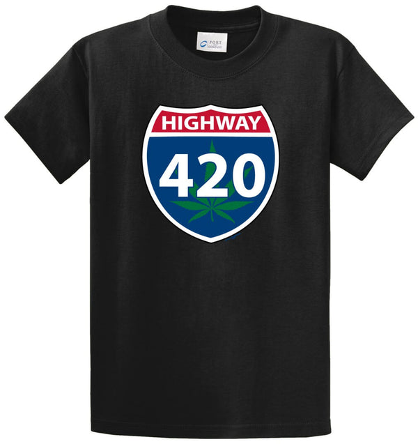 Highway 420 Printed Tee Shirt