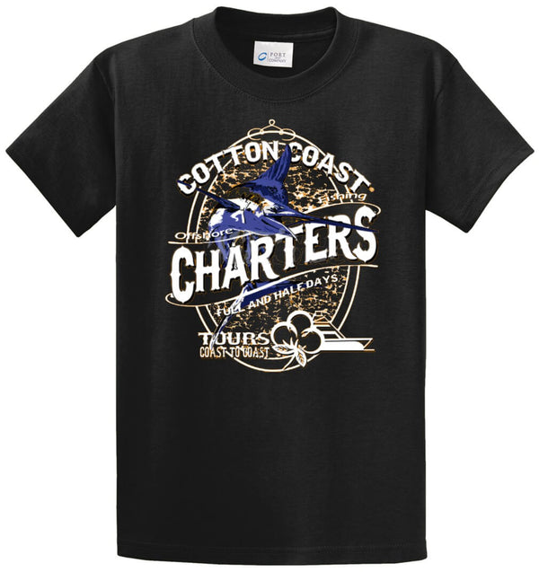 Cotton Coast Offshore Charters Printed Tee Shirt