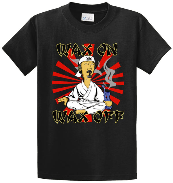 Wax On Wax Off Stoned Sensei Printed Tee Shirt