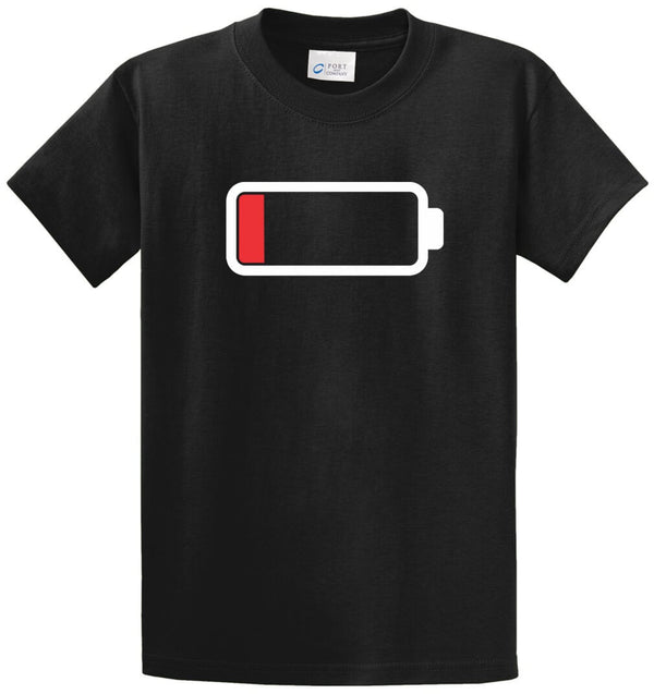 Low Battery Printed Tee Shirt