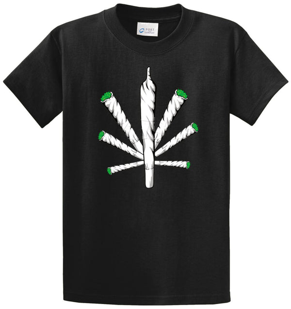 Pot Leaf Joints Printed Tee Shirt