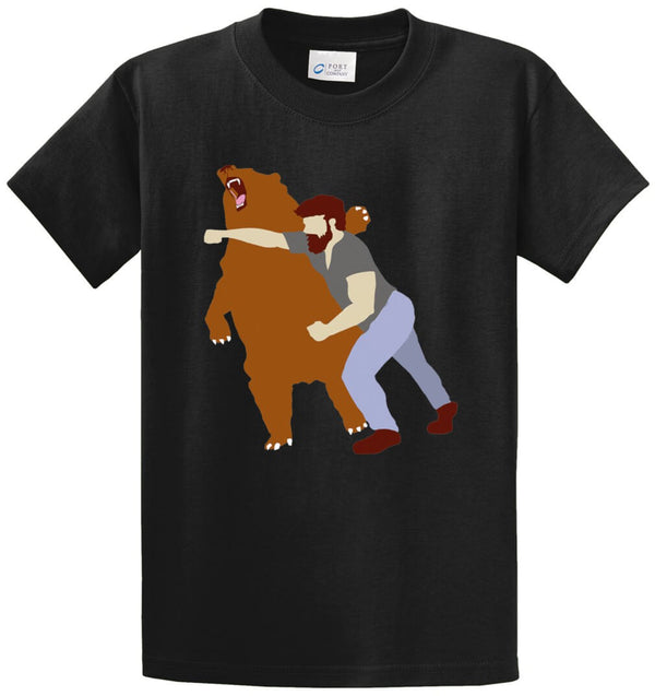 Bear Fighter Printed Tee Shirt