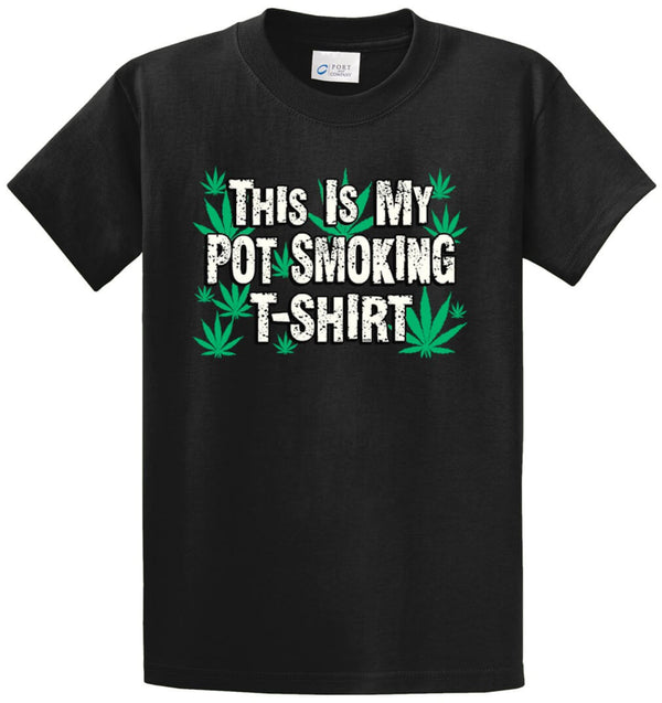 Pot Smoking Shirt Printed Tee Shirt