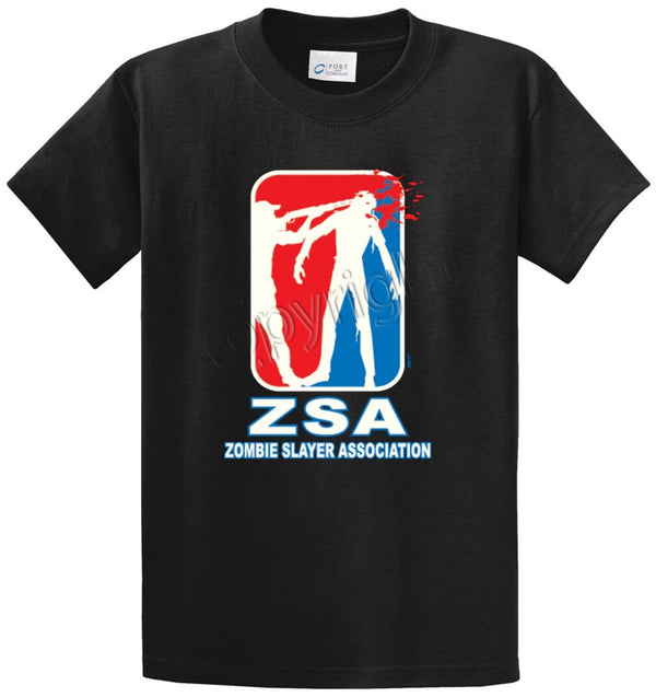 ZSA-Zombie Slayer Association Printed Tee Shirt