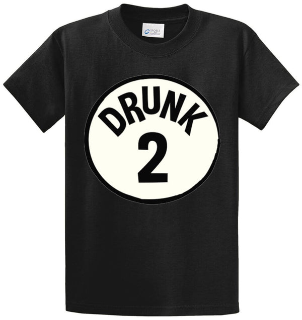 Drunk 2 Circle Printed Tee Shirt