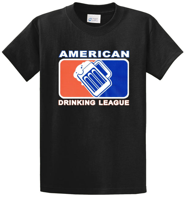 American Drinking League Printed Tee Shirt
