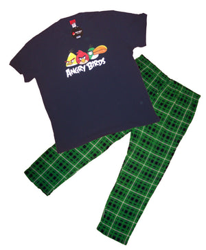 """Angry Bird"" Mens Two Piece Pajama Set Closeout"