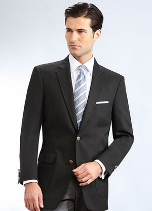 Mens Classic Single Breasted Black Blazer