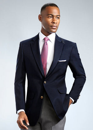 Mens Classic Single Breasted Navy Blazer