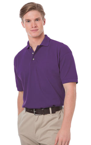 Men's Grape Cotton Pique Polo Shirt Closeout