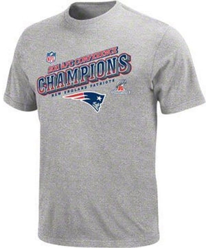 NFL Team Apparel 2011 Patriots AFC Champions Big Man Tee Shirt Closeout