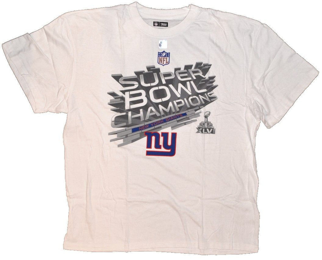 NFL Team Apparel Ny Giants Super Bowl Champs Big Man Tee Shirt Closeout