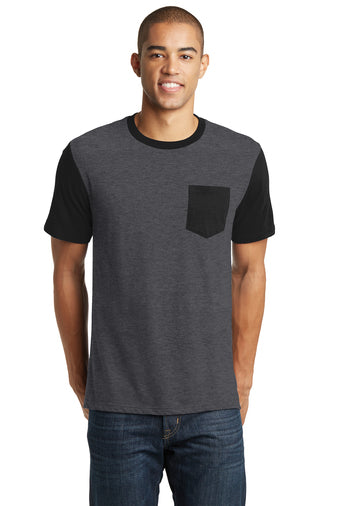 District Brand T-Shirt With Contrast Sleeves and Pocket Closeout