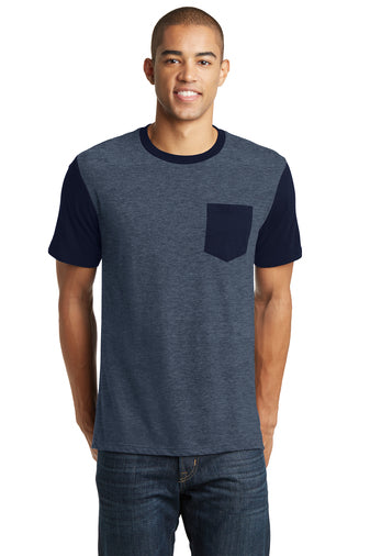 District Brand T-Shirt With Contrast Sleeves and Pocket Closeout-3