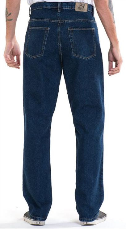 Full Blue Brand Men's Relaxed Fit Jeans Dark Wash-2