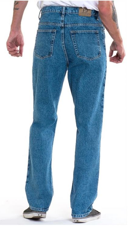 Full Blue Brand Men's Relaxed Fit Jeans Light Wash-2