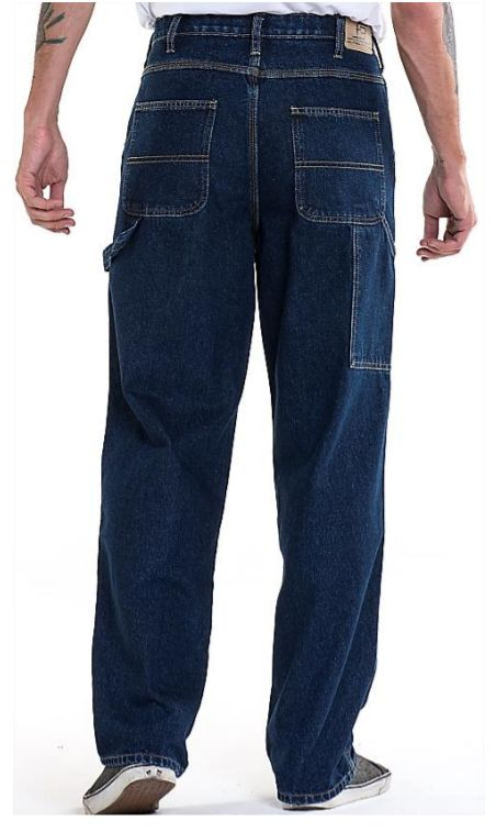 Full Blue Brand Men's Loose Fit Carpenter Jeans-3