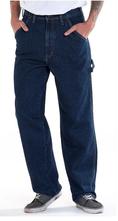Full Blue Brand Men's Loose Fit Carpenter Jeans-2