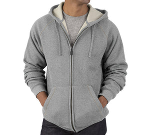 Charles River Apparel Thermal Bonded Sherpa Zip Sweatshirt Closeout