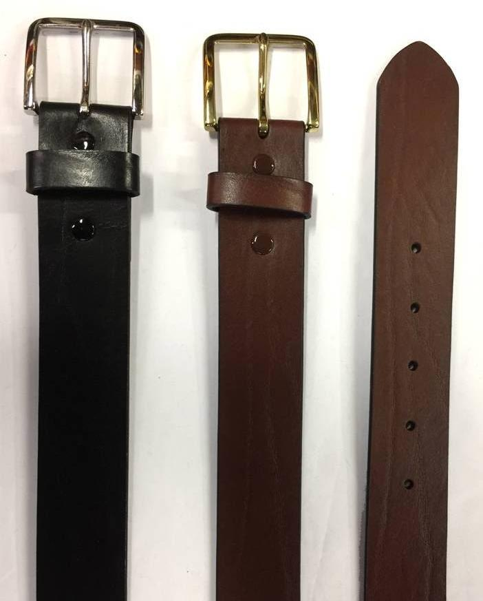 Big Man Leather Belt With Grain Pattern