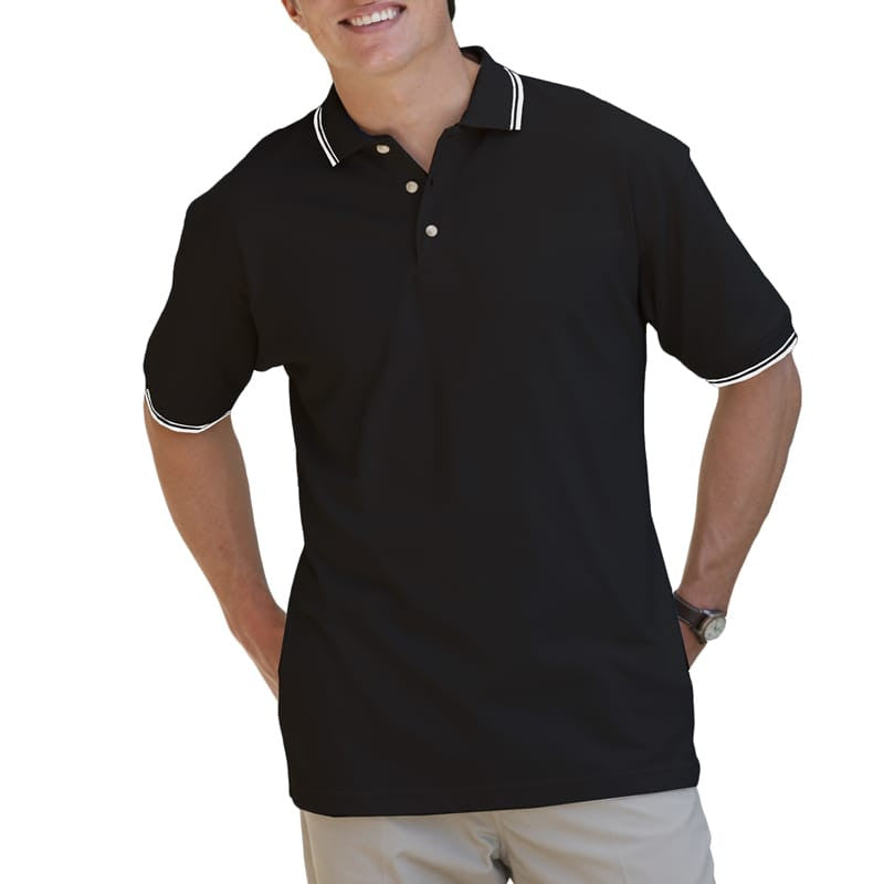 "Blue Generation Men's Tipped ""Superblend"" Pique Polo-1"