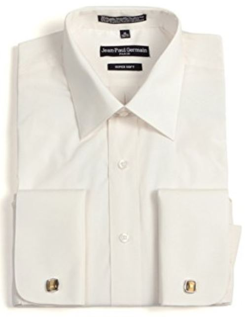 Men's Broadcloth Bone French Cuff Dress Shirt
