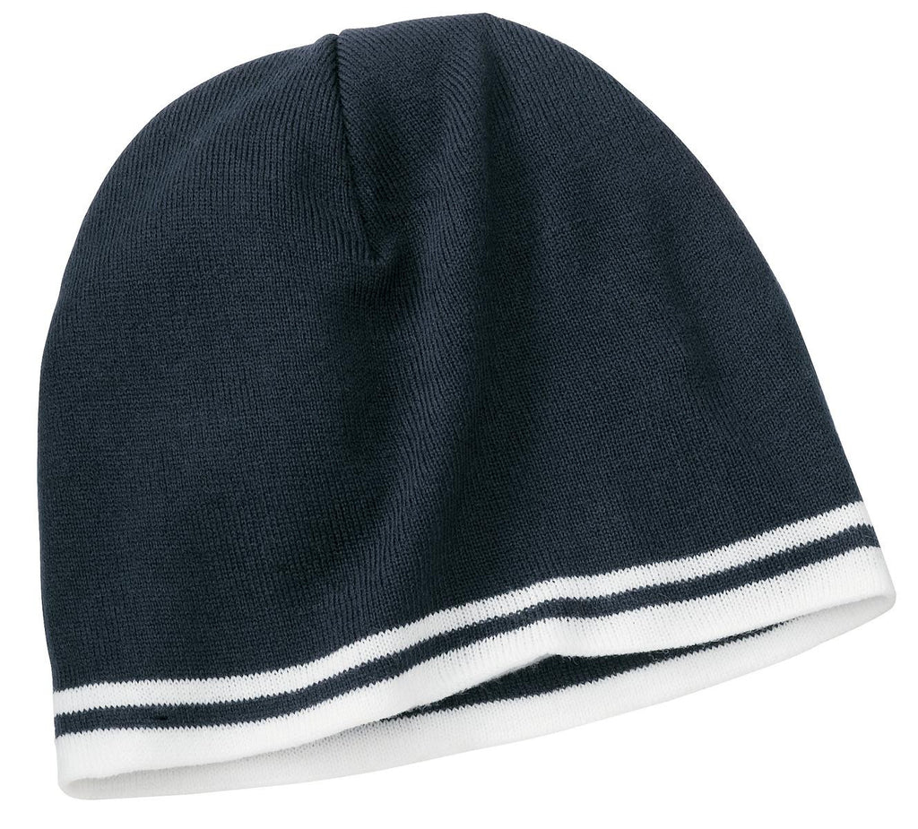 Port & Company Fine Knit Skull Cap With Stripes-3