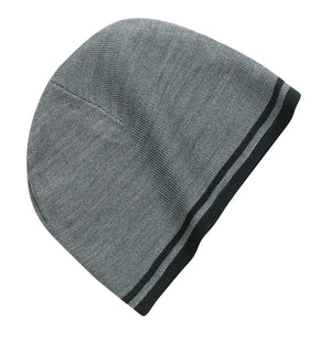 Port & Company Fine Knit Skull Cap With Stripes