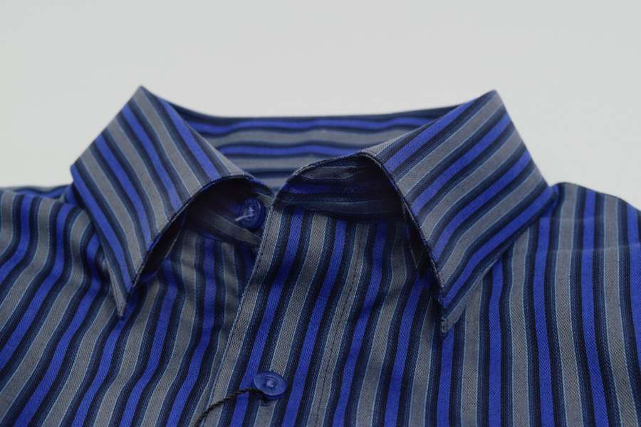 FX Fusion Silver/Royal Easy Care Woven Dress Shirt-1