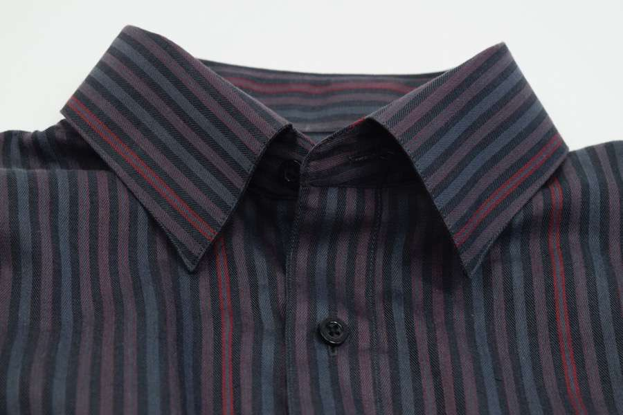 FX Fusion Red/Charcoal Easy Care Woven Dress Shirt
