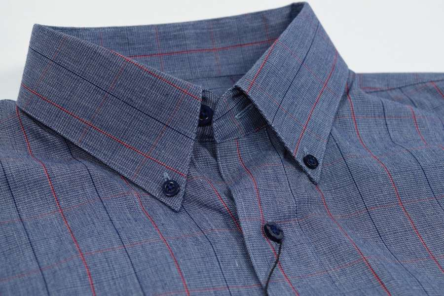FX Fusion Navy/Red Easy Care Woven Dress Shirt