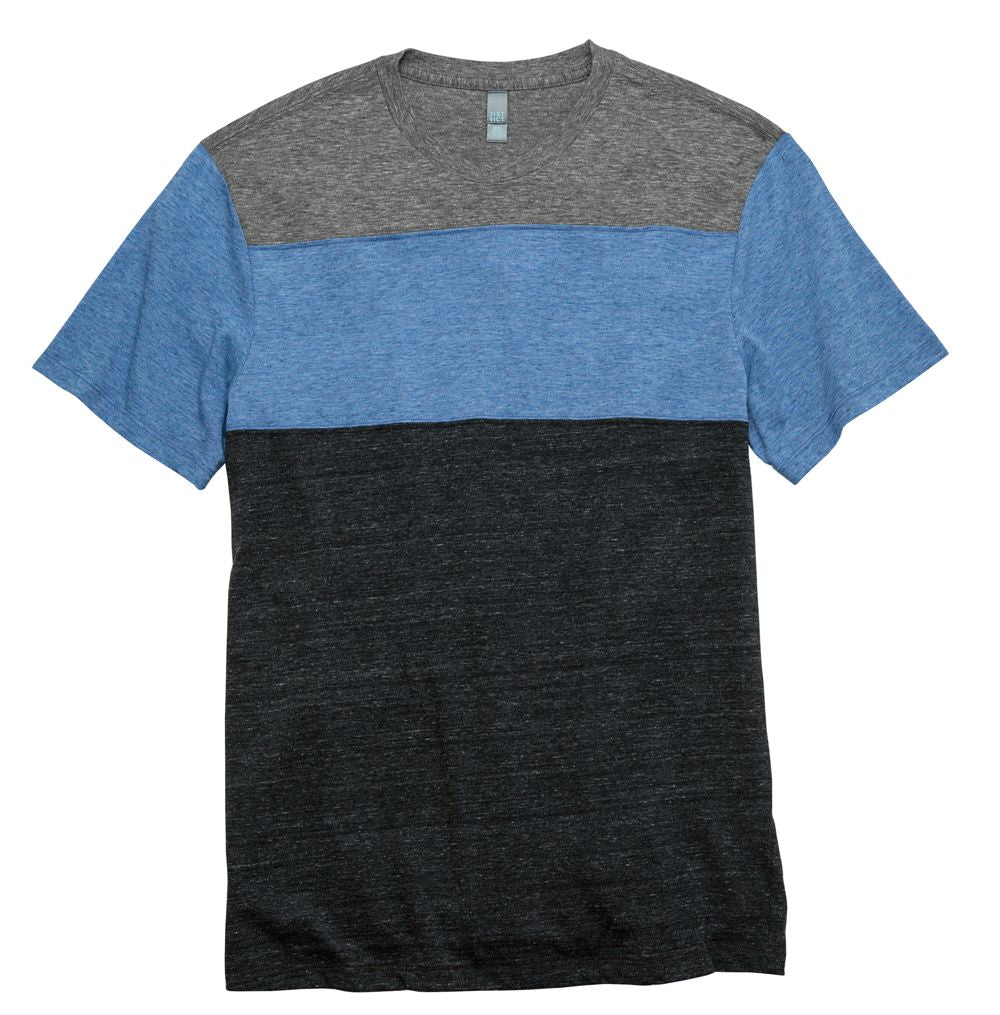 Mens Tri-Blend Pieced Crewneck Tee Closeout