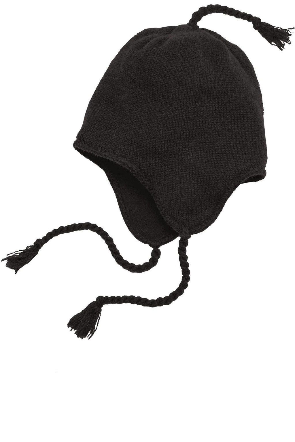 District Brand Knit Hat With Ear Flaps-1