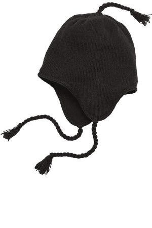 District Brand Knit Hat With Ear Flaps