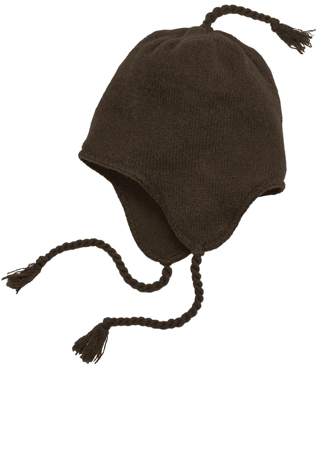 District Brand Knit Hat With Ear Flaps-2