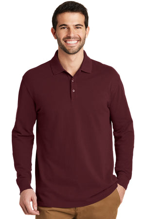 Port Authority EZ Cotton Long Sleeve Pique Polo Shirt