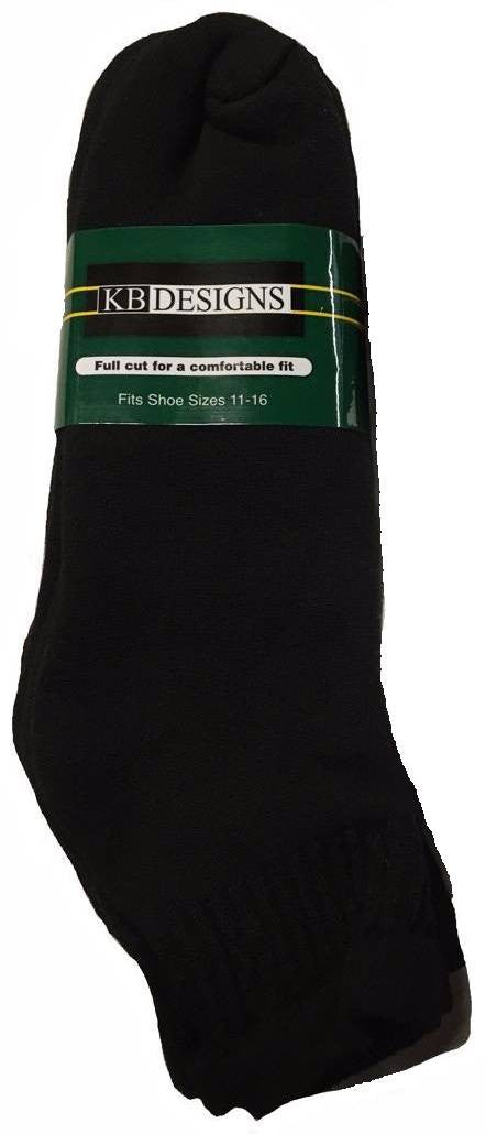 King Size 1/4 Crew Sock (3Pr Pack)