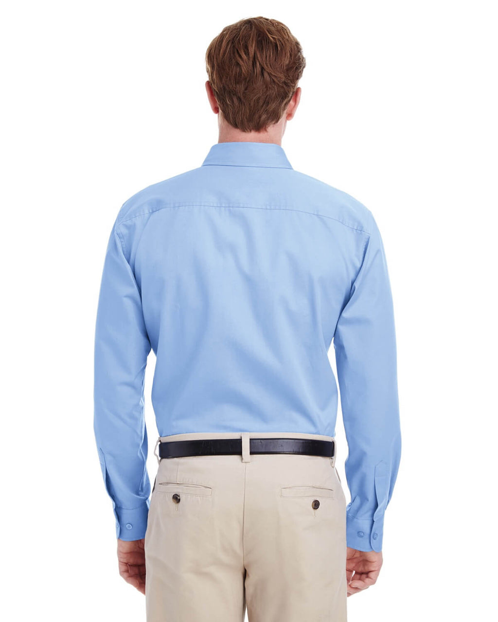 Harriton Men's 100% Cotton Long-Sleeve Twill Shirt with Teflon™ Closeout-3